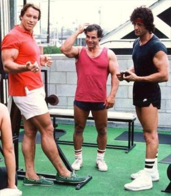 Schwarzenegger and Stallone : A Height History.
