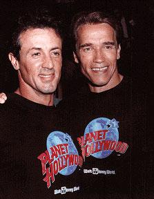 Schwarzenegger and Stallone : A Height History